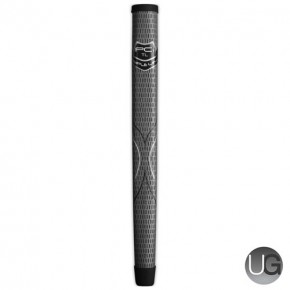 Winn Triple Line Midsize Golf Putter Grip (Grey)