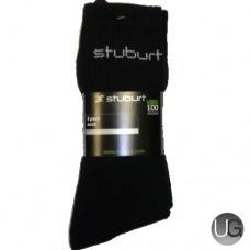 Stuburt Cushion Sole Golf Socks 3 Pack (Black)