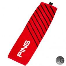 Ping Tri-Fold Golf Towel (Red)