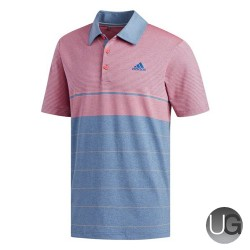 Adidas Golf Ultimate 365 Heather Stripe Polo Shirt (Marine/Grey)