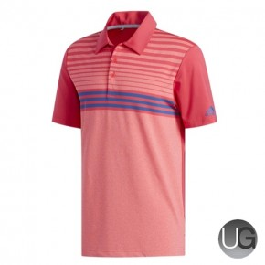 Adidas Golf Ultimate 365 3-Stripes Heather Golf Polo Shirt