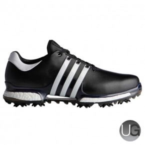 Adidas Tour 360 Boost 2.0 Golf Shoes (Black and White)