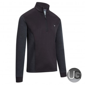 Callaway Mens Ribbed Ottoman II 1/4 Zip Golf Fleece Caviar