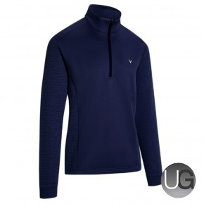 Callaway Mens Ribbed Ottoman II 1/4 Zip Golf Fleece Peacoat