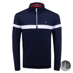Calvin Klein Scale Performance Half Zip Navy SS20