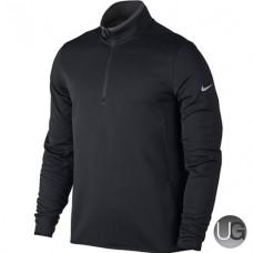 Nike Hypervis 1/2 Zip Golf Top  (Black Grey Silver)