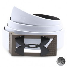 Under Armour PU Leather Reversible Two Tone Buckle Golf Belt - White