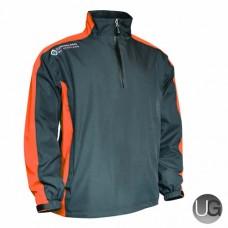 Sunderland Vancouver 1/2 Zip Waterproof Golf Jacket (Gunmetal/Orange/White)