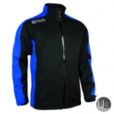 Sunderland Vancouver Waterproof Golf Jacket (Black/Electric/Blue)