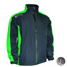 Sunderland Vancouver Waterproof Golf Jacket (Charcoal/Emerald/White)