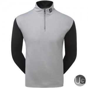 FootJoy Double Layer Contrast Chill-Out (Heather Grey with Black & White)