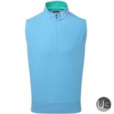 FootJoy Spun Poly Half Zip Vest (Sky Blue with Spearmint)