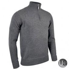 Glenmuir Coll Half Zip Pullover - Light Grey Mix