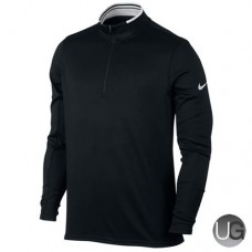 Mens Nike Dry Half-Zip Golf Top - Black