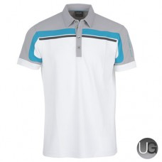 Galvin Green Macoy Golf Shirt (White/Steel)