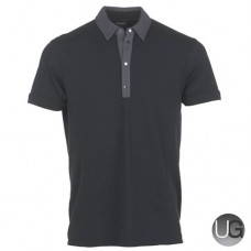 Galvin Green Major Golf Shirt (Black/Iron Grey)