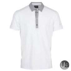 Galvin Green Major Golf Shirt (White/Steel Grey)