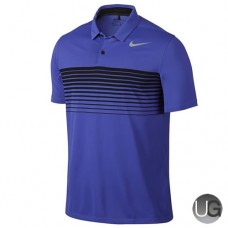 Mens Nike Mobility Speed Stripe Golf Polo - Purple