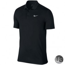 Mens Nike Victory Solid LC Golf Polo - Black