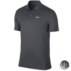 Mens Nike Victory Solid LC Golf Polo - Grey