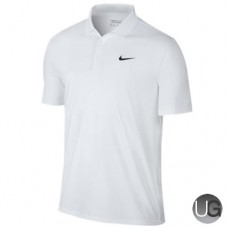 Mens Nike Victory Solid LC Golf Polo - White