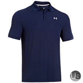 Under Armour Mens Performance Golf Polo Shirt - Academy Steel