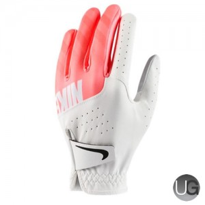 Womens Nike Sport Golf Glove - White Lava Glow