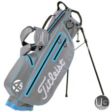 Titleist 4UP StaDry Waterproof Golf Stand Bag Cool Grey Ice Blue White