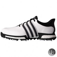 Adidas Tour 360 Boost Golf Shoes - White/Black/Black