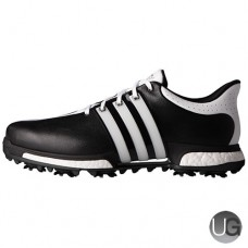 Adidas Tour 360 Boost Golf Shoes - Black/White/Black