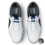 FootJoy PRO SL Golf Shoes 53584 -  Top View - White Blue