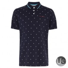 Ted Baker Golf Grass Polo Shirt Navy