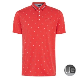 Ted Baker Golf Grass Polo Shirt Red