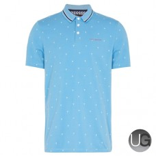 Ted Baker Golf Grass Polo Shirt Blue