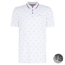Ted Baker Golf Grass Polo Shirt White