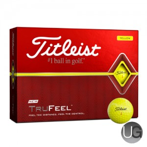 Titleist TruFeel 12 Ball Pack (Yellow) (FREE PERSONALISATION)