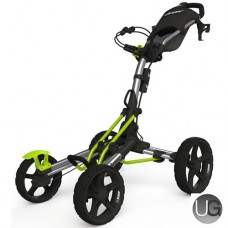 Clicgear 8.0 4 Wheel Golf Trolley Silver/Lime