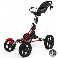 Clicgear 8.0 4 Wheel Golf Trolley Silver/Red