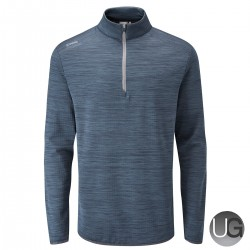PING Edison Half Zip Jacket - Oxford Blue Marl